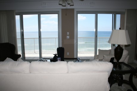 Gulf Views from living room